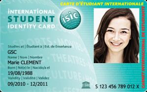 Carte internationale étudiante
