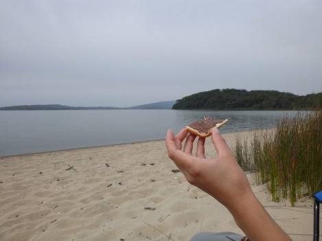 Petit déj' sur la plage