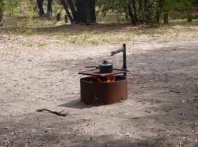 Cuisson façon Moyen-Age pour notre premier camping
