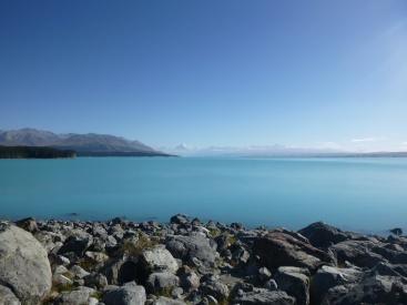 38. Le bleu du Lake Pukaki (photo non truquée)