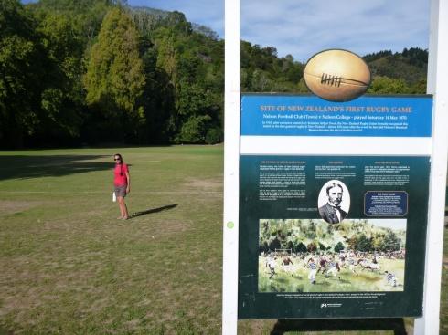 67. Nelson - Ville du 1er match de rugby en NZ