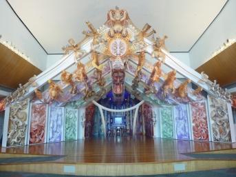 4. Te Papa museum - Magnifique entrée maison commune maorie