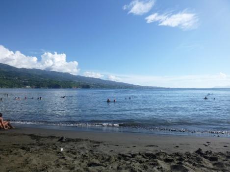10. La pointe Venus, plage de sable noir à Tahiti
