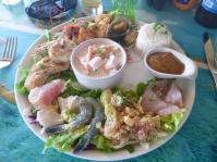 3. 1er jour à Tahiti et donc 1er plateau de fruits de mer, évidemment... Une merveille pour les papilles !