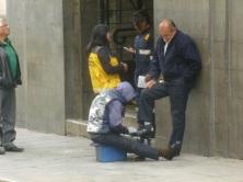 15. Nous croisons d'innombrables cireurs de chaussure à La Paz