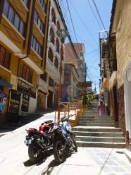 3. Rue de notre hôtel à La Paz