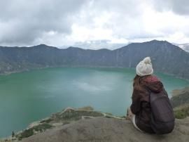 8. Nous découvrons la merveille - Laguna de Quilotoa