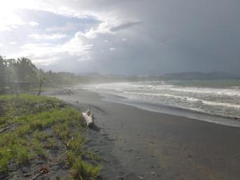 28. La plage en face de chez nous est faite de sable noir3