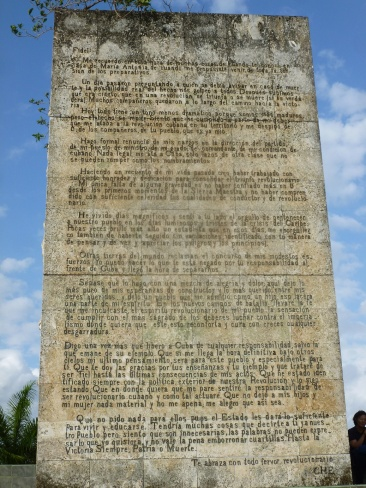 Cuba - Santa Clara - Monument du Che - Sa lettre à Fidel