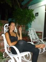 31. Le bonheur de retrouver sa chaise à bascule le soir et de profiter de l'extérieur