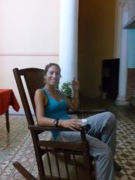 7. Repos du soir sur chaise à bascule, à la cubaine...