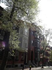 4. Quartier de Beacon Hill avec ses maisons coloniales en briques style victorien
