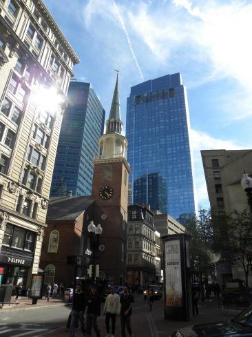 51. Old South Meeting House - église puis lieu de réunion où s'amorça notamment la Boston Tea Party